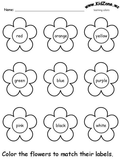 color recognition worksheets for preschoolers colors