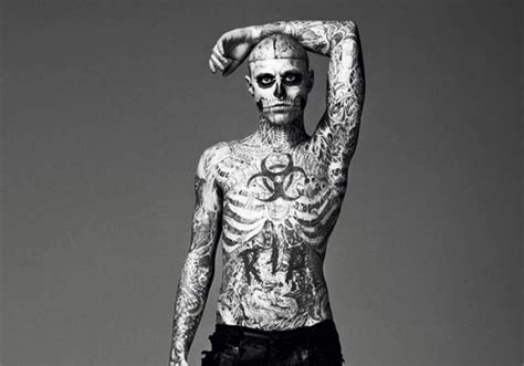 man with full body zombie tattoo skeleton tattoo model women fashion and lifestyles
