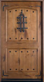 Knotty Alder Exterior Door Front Door Custom Single Solid Wood With Knotty Alder Finish Rustic Model Db 601w Cst