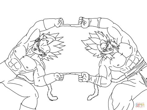 Dragon Ball Z Fusion Coloring Pages | super saiyan fusion coloring page free printable