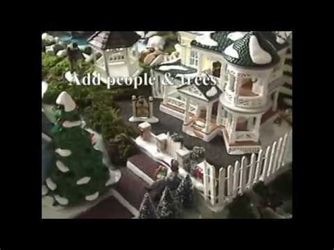 youtube make a village display sandi s how to make a display