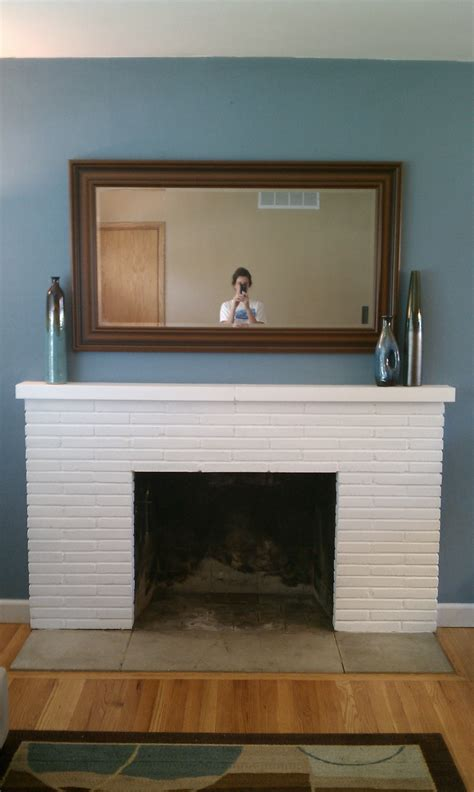 White Painted Fireplaces by Breathtaking White Painted Fireplace Mantel Also Square