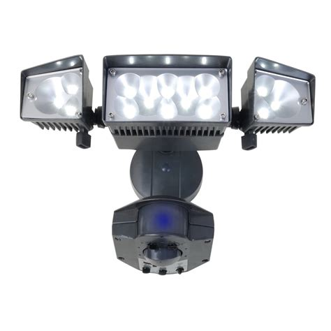 lowes outdoor led flood lights shop utilitech 360 degree 3 led motion activated