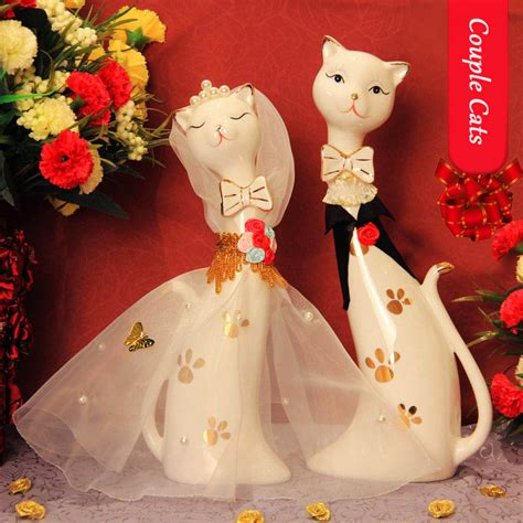 gift for home decoration kawaii ceramic cat wedding gift home decor crafts room