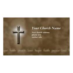 christian business card brown peace faith christian business card zazzle