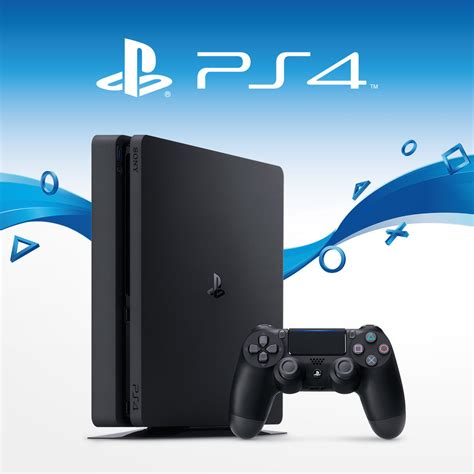 ps4 new console sony playstation 4 slim 500gb ps4 jet black console new