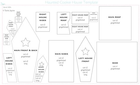 gingerbread house template www imgkid com the image