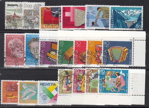 Schweiz Briefmarken Kaufen Briefmarken Schweiz Jahrgang 1985 Komplett Michel Nr 1288 1307 Gestempelt G 252 Nstig Kaufen Im