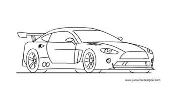 How To Draw Car How To Draw A Race Car Easy For Junior Car Designer