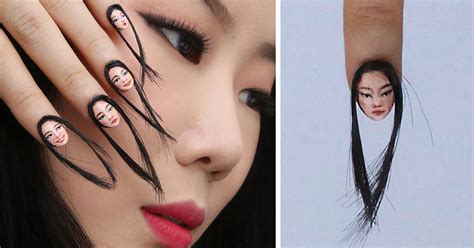 art design hair and nails hairy selfie nails exist now and it s as terrible as it
