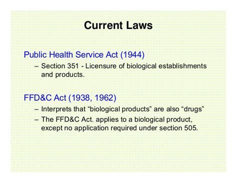 section 351 of the public health service act usfda nda vs bla