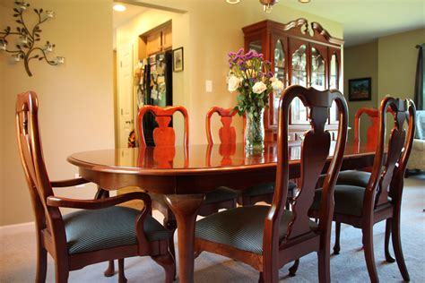 Solid Cherry Dining Room Furniture Solid Cherry Wood American Drew Cherry Grove 9 Pc Dining Room Set Made In Usa The Hull