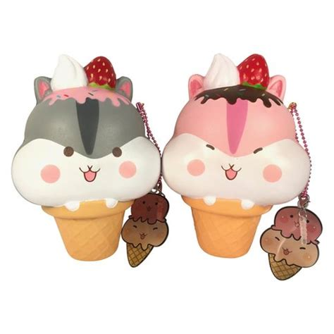 Squishy Licensed Rainbow And Galaxy Steam Bun Original yummiipoli hamster mascot cone squishy with
