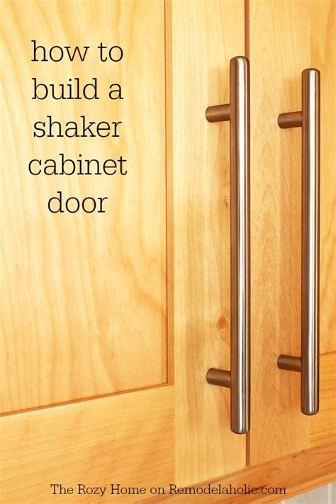 how to make simple cabinet doors remodelaholic how to make a shaker cabinet door