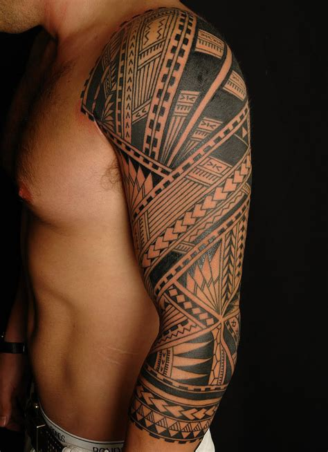 tribal sleeve tattoo for men 61 tribal shoulder tattoos