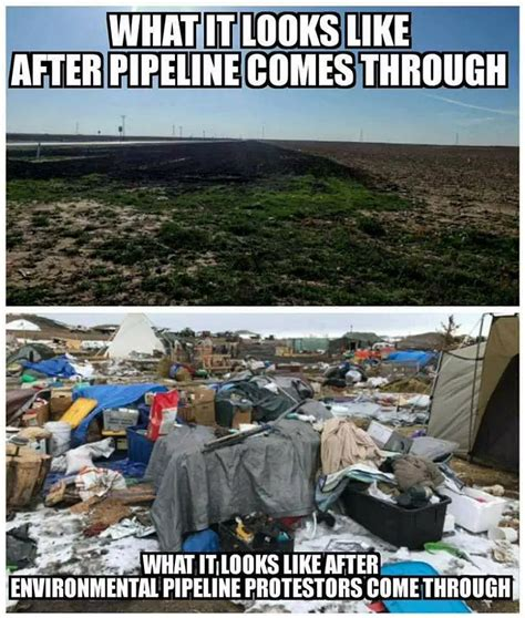 Pipeline Memes - damage to environment done by pipeline vs protesters exposed