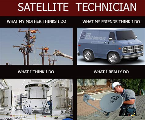 Cable Meme - satellite technician what people think i do what i