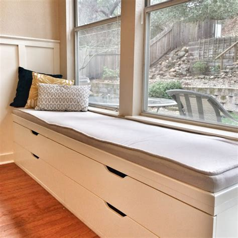 window bench ikea 12 fabulous functional diy storage benches decorating