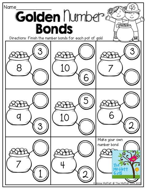 Number Bonds Worksheets by Number Bonds Fill In The Missing Part On The Coins Tons