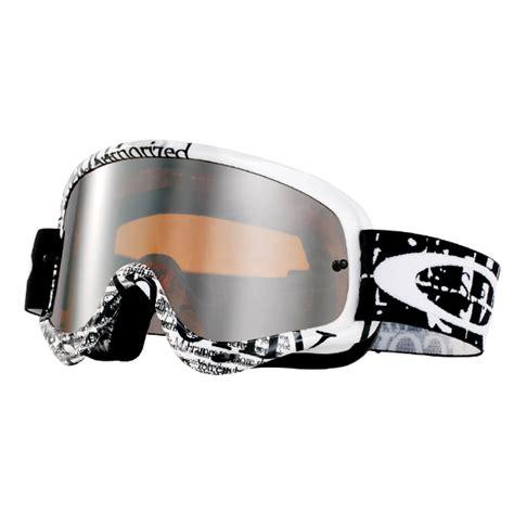 oakley goggles motocross oakley o frame goggles tagline black white black iridium
