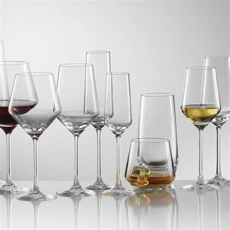 pure wine glasses cystal glassware schott zwiesel plum