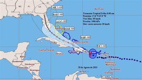 imagenes satelitales tormenta erika tormenta tropical erika se acerca al oriente de cuba