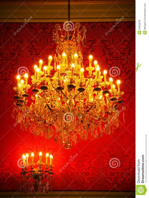 Rococo Crystal Chandelier Magnificent Vintage Crystal Chandelier Royalty Free Stock