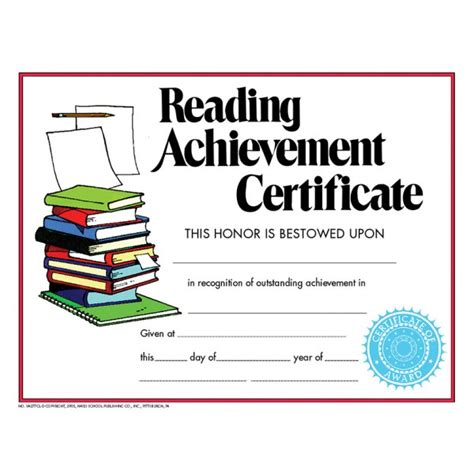 template for reading award certificate 26 images of reading achievement award template infovia net