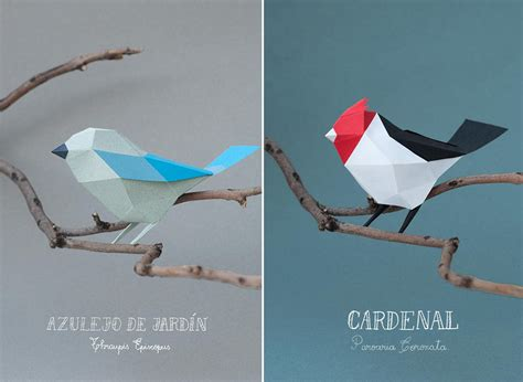 How To Make 3d Paper Birds - geometric paper birds and animals by estudio guardabosques