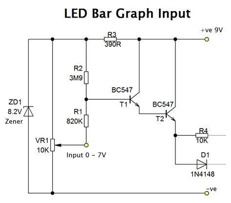 led bar graph resistors led bar graph with transistors circuit diagram