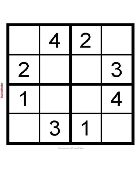 printable easy sudoku kids sudoku printable studentschillout