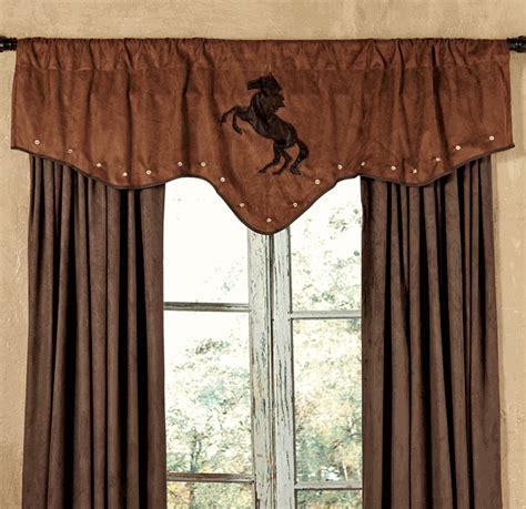horse kitchen curtains chestnut suede horse valance