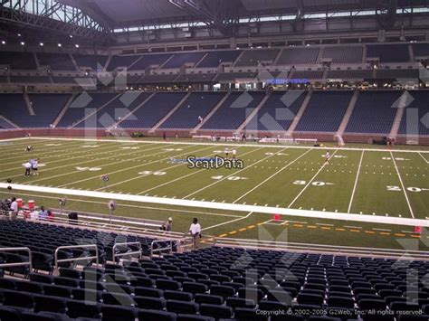section 108 b 5 ford field section 108 seat view lower level sideline