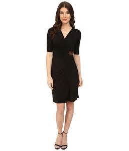 tommy bahama tambour beaded wrap dress in black lyst