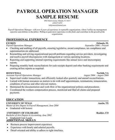 Sle Resume For Payroll Team Leader 28 payroll resume template enernovva org
