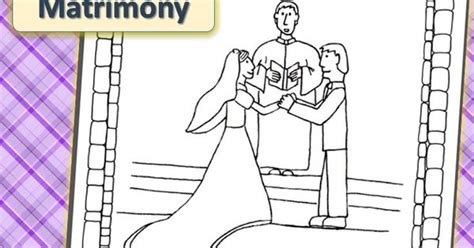 Seven Sacraments Handwriting And Coloring Matrimony 7 Sacraments Coloring Pages
