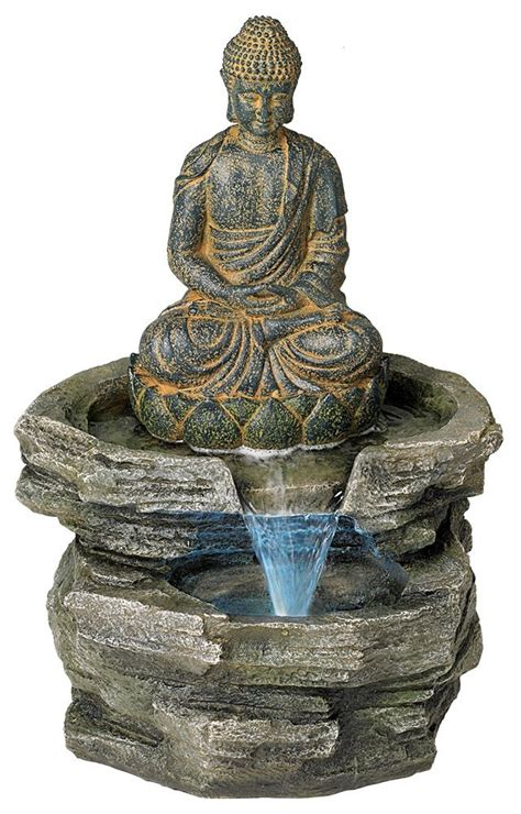 buddha water fountain   peaceful home