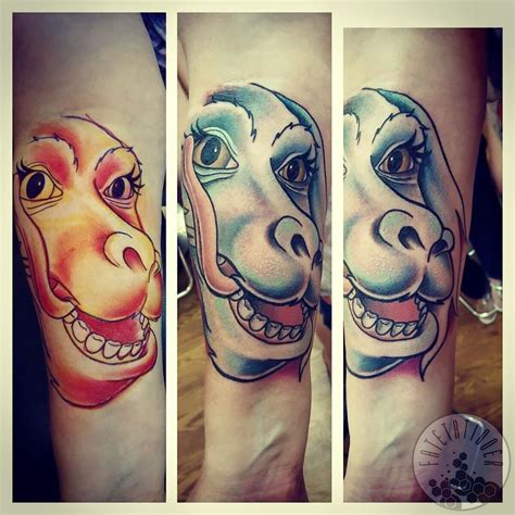 neverending story tattoo fatetattooer falcor from the neverending story falcor