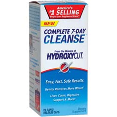 7 Day Detox Diet Pills by Hydroxycut Complete 7 Day Cleanse Recalled Diet Pills