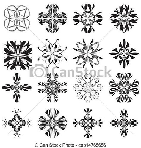 clipart vector of christian holy crosses set of