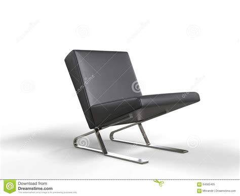 black leather armchair contemporary modern black leather armchair stock illustration image