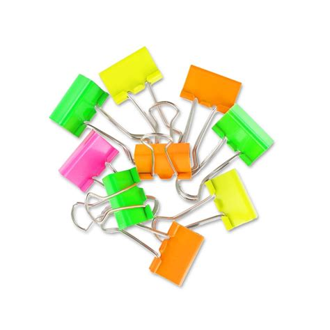 Binder Clip Set set of binder clip 19 mm multicolor x12 perles co