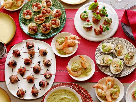 easy christmas appetizers easy and elegant holiday appetizer recipes food network
