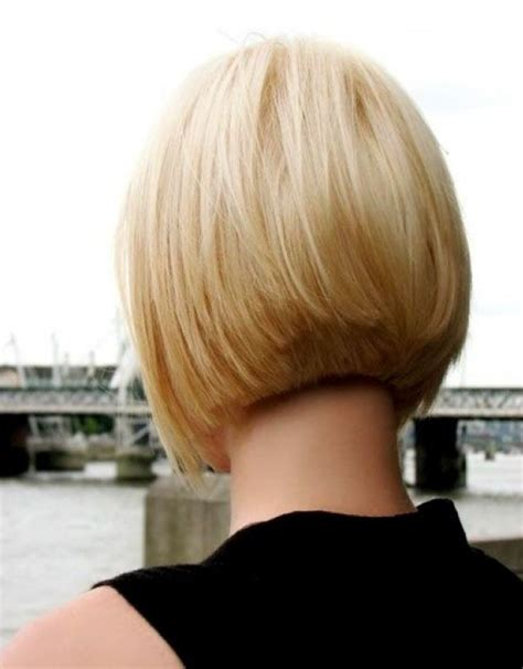 bob hairstyle at back and longer at front short layered bob hairstyles front and back view