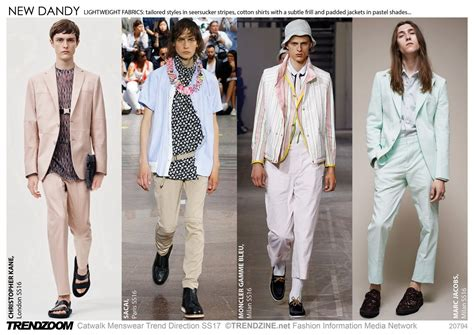 trends of 2017 trendzoom catwalk menswear trend direction ss 2017