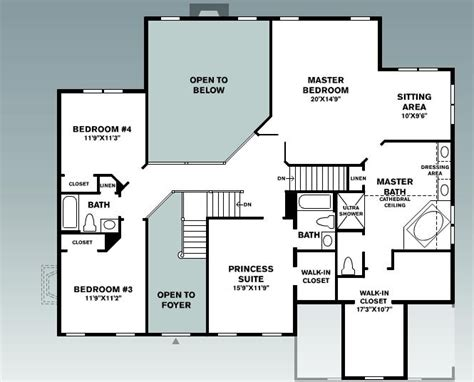 house plans with large laundry room dream house floorplan second floor house home others