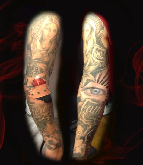 religious themed sleeve fantastic tattoos sleeves