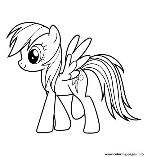 rainbow dash coloring page printable rainbow dash my little pony cartoon coloring pages printable