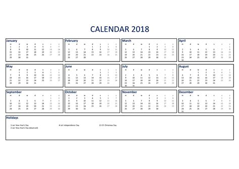 free 2018 calendar excel a3 size templates at