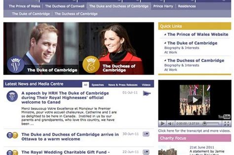 official website prince william and kate middleton official website